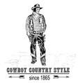 figure a lone cowboy vector image vector image