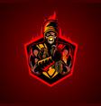 fire ninja symbol insignia vector image vector image