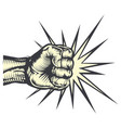 fist punching vector image
