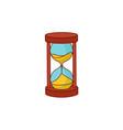 flat vintage sandglass hourglass icon vector image vector image