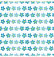 forget-me-not flowers seamless pattern vector image