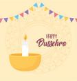 happy dussehra festival india diya lamp vector image vector image