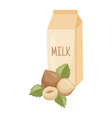 hazelnut milk vector image