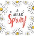 hello spring hello spring greeting card vector image vector image