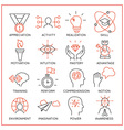 Human resource management icons - 2 vector image vector image