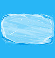 ice block text template background vector image