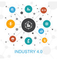 industry 40 trendy web concept with icons vector image vector image
