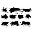 ink splashes black inked splatter dirt stain vector image
