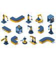 isometric industry technologies robot arms vector image