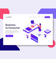 landing page template of business to consumer vector image