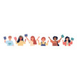 large set multi-ethnic joyful school children vector image vector image