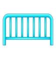 Metal fence icon cartoon style vector image