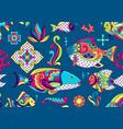 mexican talavera ceramic tile pattern traditional vector image vector image