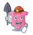 miner cartoon baby clothes for the newborn vector image vector image