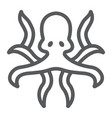 octopus line icon animal and underwater vector image vector image