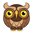 owl icon - owl isolated wild bird vector image vector image