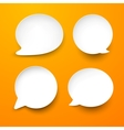 Paper white round speech bubbles vector | Price: 1 Credit (USD $1)