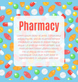 pharmacy flat poster vector image