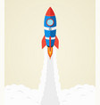 rocket launch into space startup concept vector image vector image