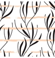 seamless pattern with hand drawn stripes vector image vector image