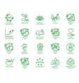 set linear icons or badges for eco friendly vector image vector image