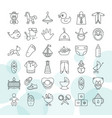 set of baby toys and clothes icon set isolated on vector image