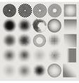 Set of halftones globe vector image vector image