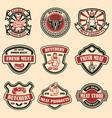 set vintage meat store labels design element vector image vector image