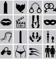 sex icons vector image vector image