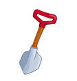 shovel isolated vector image