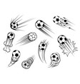 sport balls icons soccer game football goal vector image