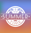 Summer Time Text Card vector image vector image