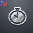 The stopwatch icon symbol 3D style Trendy modern vector image