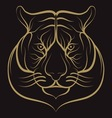 Tiger vintage vector image
