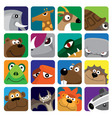 wildlife animals set icon vector image vector image