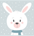 winter card with rabbit vector image vector image