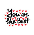 you are best card vector image vector image