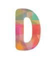 Colorful alphabet D vector image
