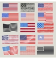USA flags set vector image