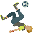 cartoon soccer boy vector image