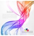 Abstract background with rainbow wave vector image vector image