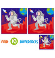 astronaut on mars find 10 differences vector image