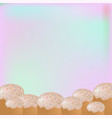 baking cake on a light background poster banner vector image vector image