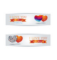 banners with hearts and message vector image