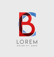 bc logo letters with blue and red gradation vector image vector image