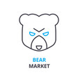 bear market concept outline icon linear sign vector image vector image