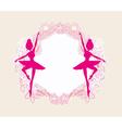 Beautiful ballerina - vintage frame vector image vector image