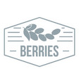 berries logo simple gray style vector image vector image