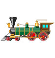 bright cartoon steam locomotive vector image vector image