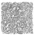 cartoon doodles automotive vector image vector image